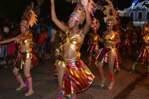 Night parade in Basse-Terre Township